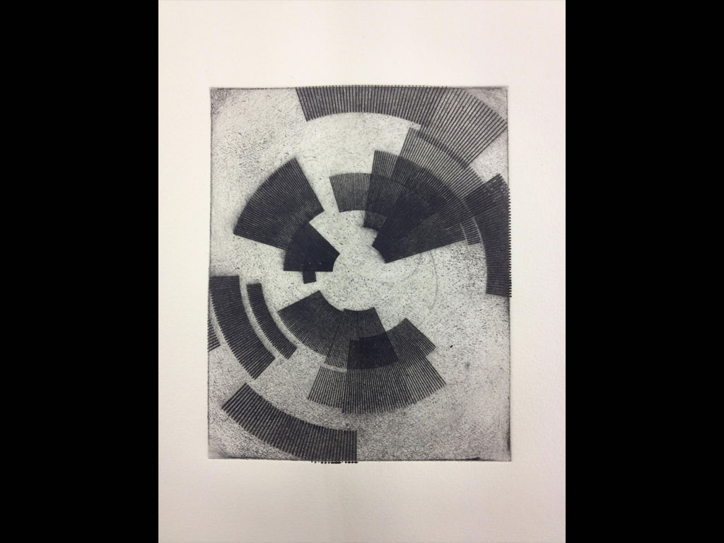 Drypoint Polyester print